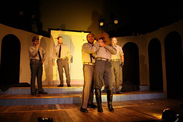 Trace Pope, Stephen Cook, Heath Thompson, David J. Boss and Robert Stevens in All's Well That Ends Well