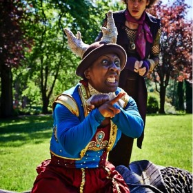 Photograph by Jorge Lizalde Cano, featuring Alison Halstead as Rosalind and Connor Allen as Orlando.