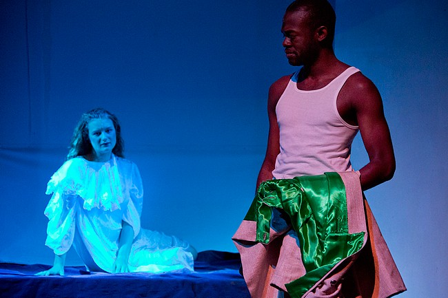 Photograph by Koen Timmerman. Inge Wijers (Desdemona) and Malcolm Davis (Othello)