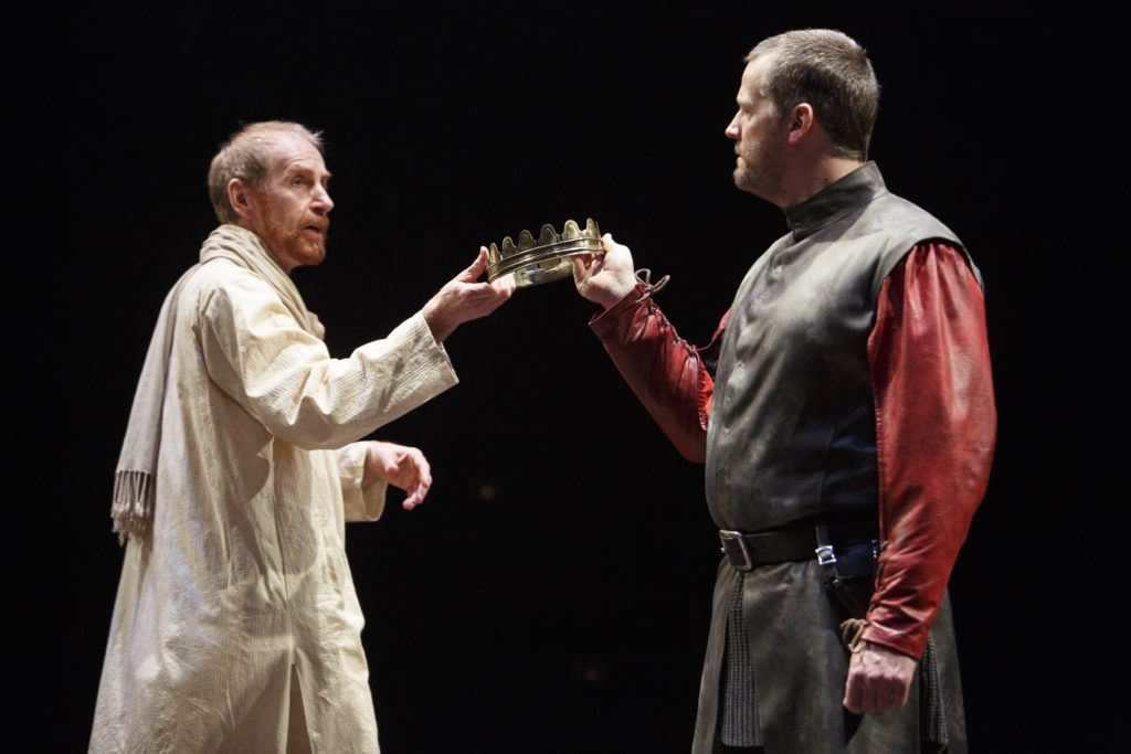 Tom Rooney (left) as King Richard II and Graham Abbey as Henry Bolingbroke in Breath of Kings: Rebellion. Photography by David Hou.
