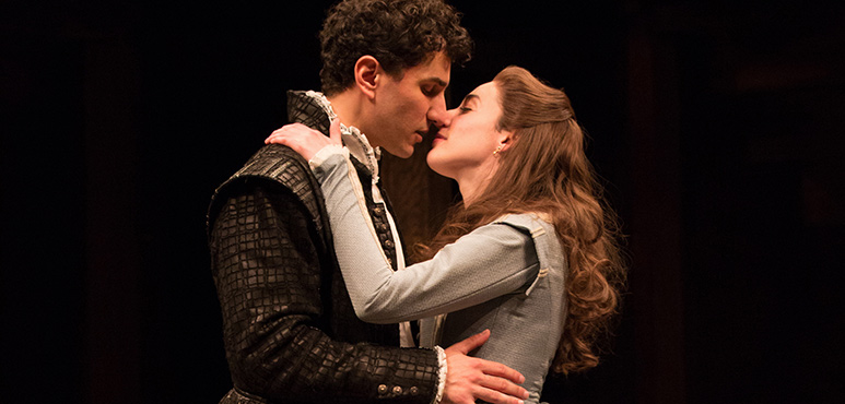 Antoine Yared as Romeo and Sara Farb as Juliet in Romeo and Juliet. Photography by Cylla von Tiedemann.