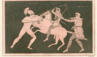 Theseus and Hippolyta in Battle