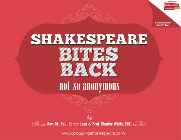 Shakespeare Bites Back: Not So Anonymous Book Cover