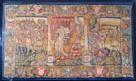 A Sixteenth-century tapestry depicting a biblical scene