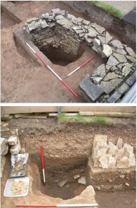 Shakespeare's previous neighbours: 13th-century foundations at New Place.