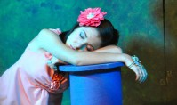 A sleepy Dara Solina as Hermia