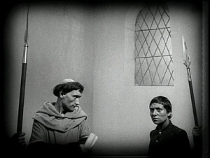 "Falconetti and Antonin Artaud in Dreyer's ""Passion of Joan of Arc"""