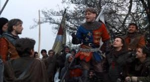 Sir Kenneth Branagh as Henry V in his 1988 film version.