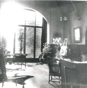 The Hall of Mason Croft in Marie Corelli's time. © University of Birmingham