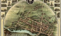Historic 1902 map of Stratford-upon-Avon