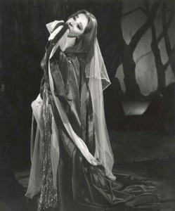 Angus McBean, Vivien Leigh as Lavinia in Titus Andronicus, 1955. McBean took photographs for all the major theatres in London between roughly 1936 and 1960, and was the official photographer for the SMT from 1945. He considered Leigh his muse, publishing a book devoted to their collaborations in 1989 called Vivien: A Love Affair in Camera.
