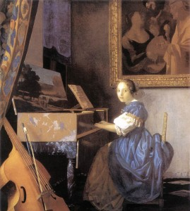 Vermeer: Lady Seated at a Virginal commonswikimedia.org