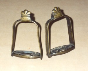 16th-c. stirrups found in Shakespeare's Birthplace in the early 19th c.