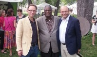 Paul and Paul with the mayor of Kansas City, Sylvester James Jr