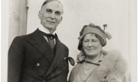 Frank O. and Mrs. Salisbury on board the S.S. Olympic, 1932. Courtesy of the Folger Shakespeare Library