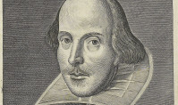 Martin Droeshout's 1623 engraving of Shakespeare