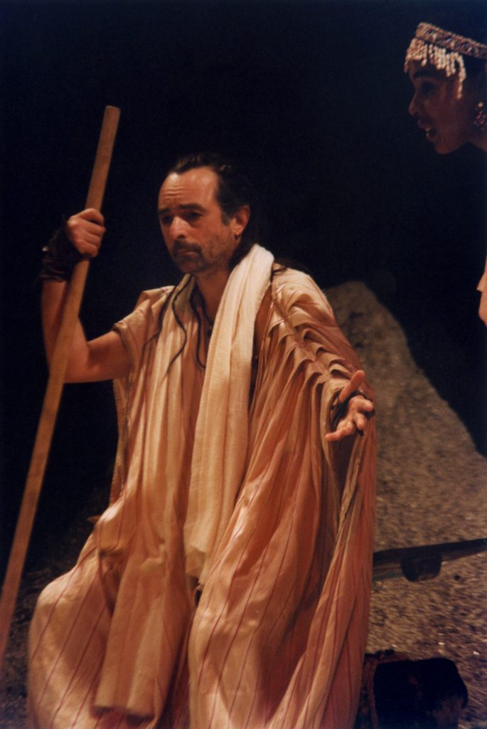 The Odyssey, directed by Derek Walcott and performed at The Other Place in 1992. Photography by Joe Cocks Studio (B.W.Thornton). Ron Cook as Odysseus.