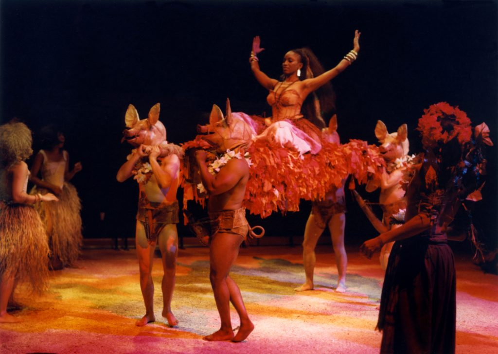 Bella Enahoro as Circe in The Odyssey, 1992. Photograph by Joe Cocks.